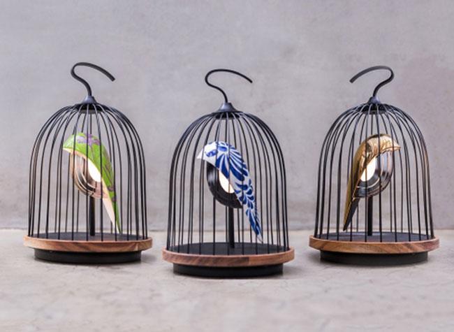 jingoo lampe connectee bluetooth oiseau cage 3 - Cet Oiseau en Cage est une Lampe Connectée avec Enceinte (video)
