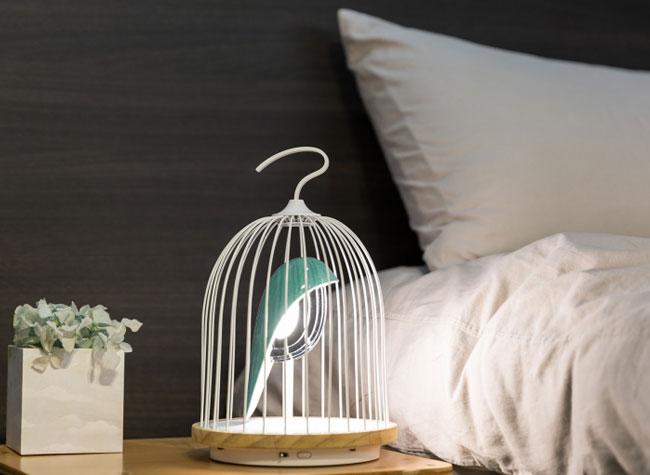jingoo lampe connectee bluetooth oiseau cage 4 - Cet Oiseau en Cage est une Lampe Connectée avec Enceinte (video)