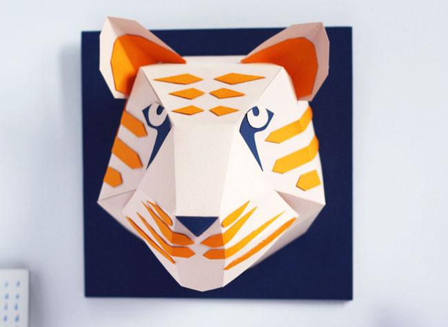 Populaire Elle Sculpte en Papier d'Artistiques Masques d'Animaux - MaxiTendance ZG68
