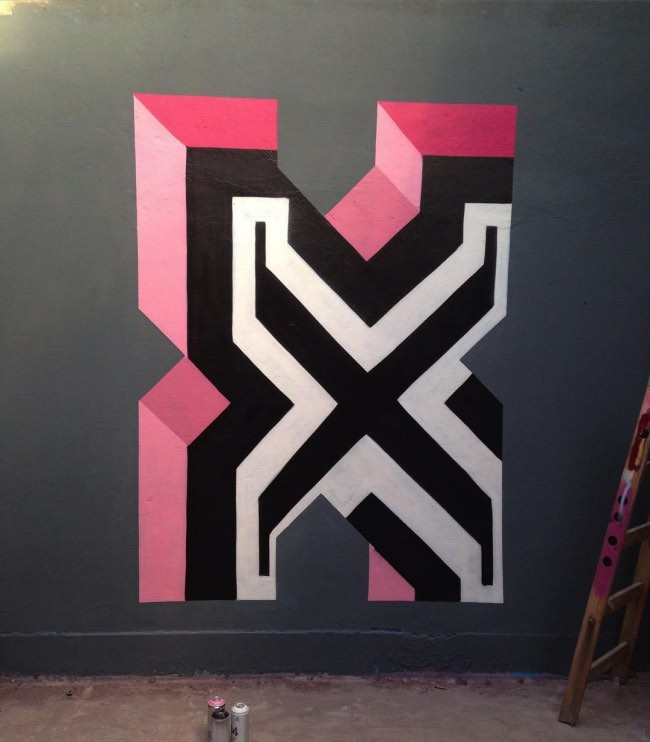 Favori Ce Street Artiste Alphabétise la Ville avec ses Typo en 3D  DM29