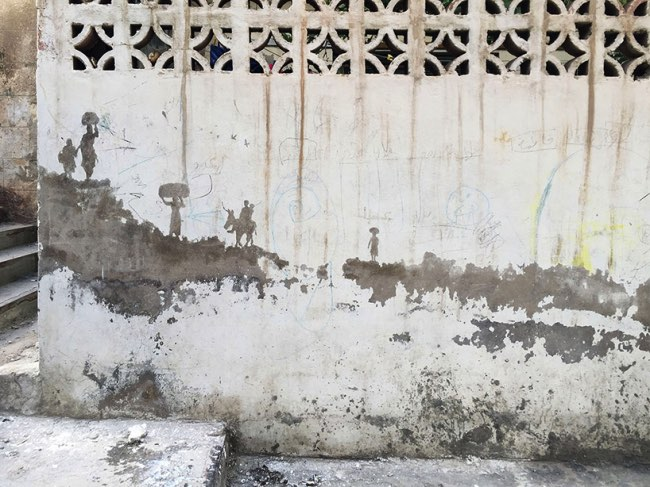 , A Amman l'Artiste Pejac Rappelle à tous l'Histoire des Palestiniens
