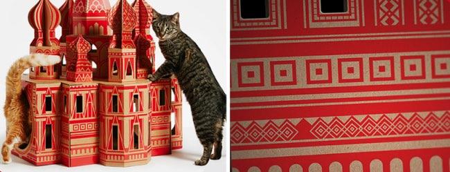, 7 Célèbres Monuments Revisités en Maisons pour Chats