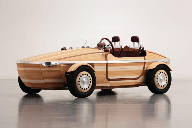 toyota setsuna concept car voiture bois 1 - Toyota Setsuna, Concept Car Tout en Bois pour Robinsons (video)