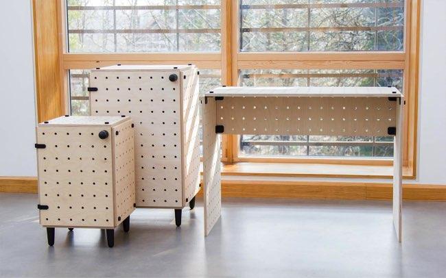 , Il Invente le Mobilier qui se Monte comme des Lego (video)