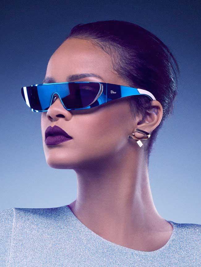 Très Rihanna Imagine pour Dior des Lunettes de Soleil Futuristes  ON78