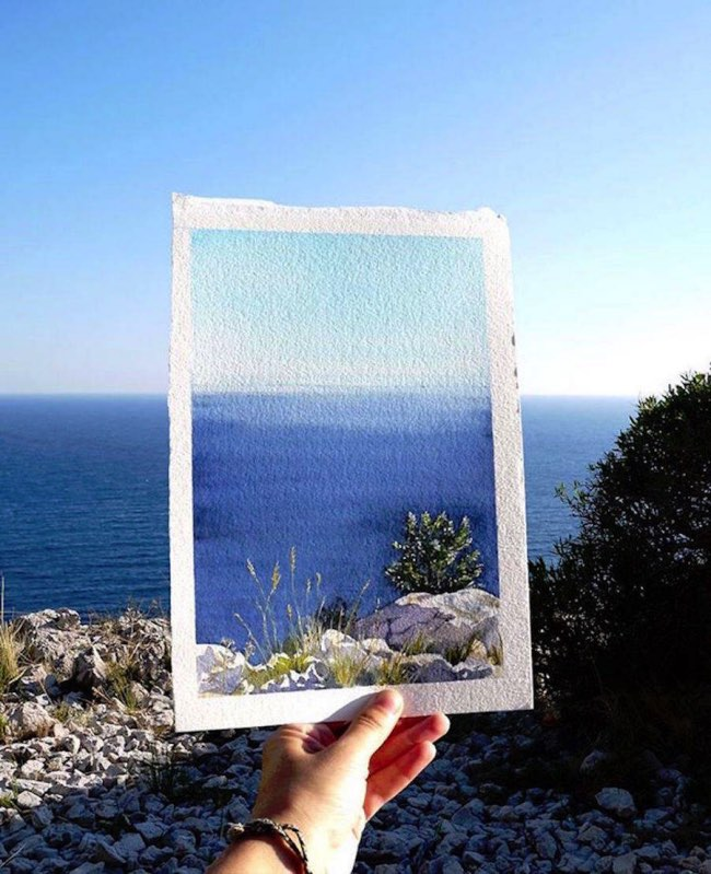 , Quand les Aquarelles se Fondent dans les Paysages Ensoleillés
