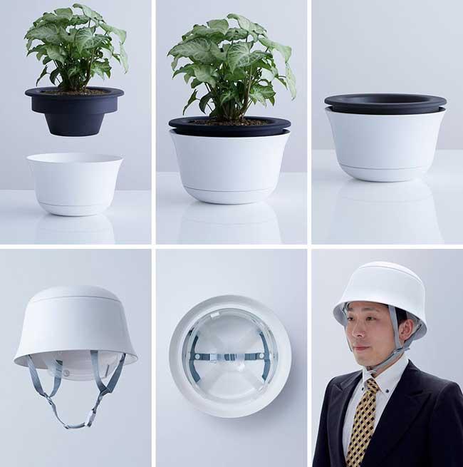 , Lampe de Table et Pot de Fleur Transformables en Casque (video)