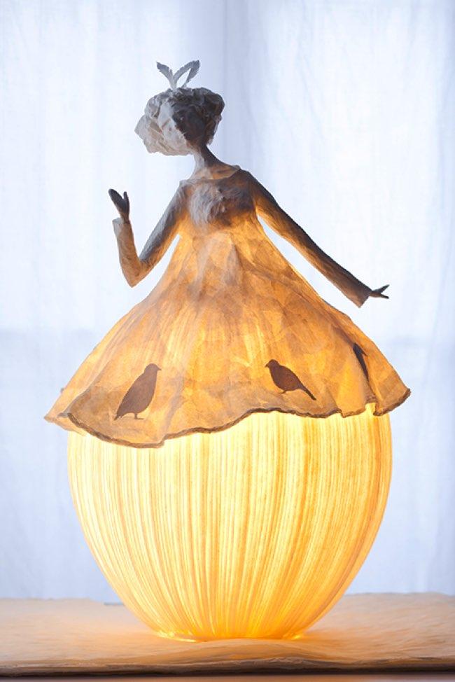 Comment fabriquer une lampe en papier simple des boucles duoreilles en origamie des boucles - Lampe en papier ...