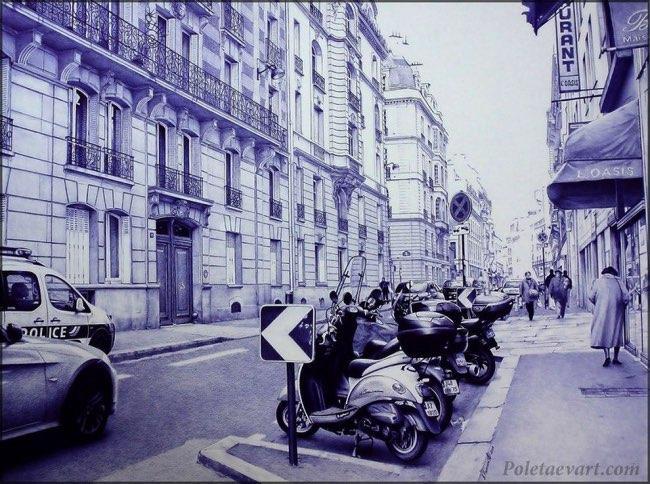 , Illustrations au Stylo Hyperréalistes et Monochromatiques