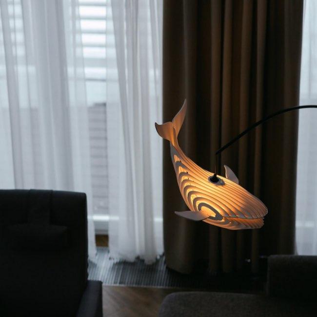 , Cette Aérienne Lampe Baleine Diffuse une Lumière Douce
