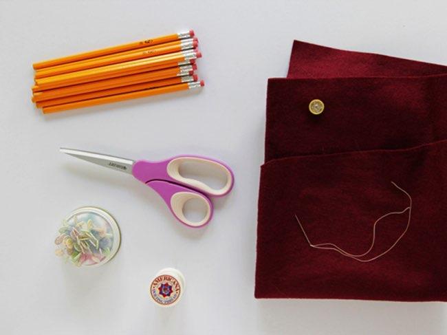 , Craquante Pochette en Crayons à Papier à Fabriquer (DIY)