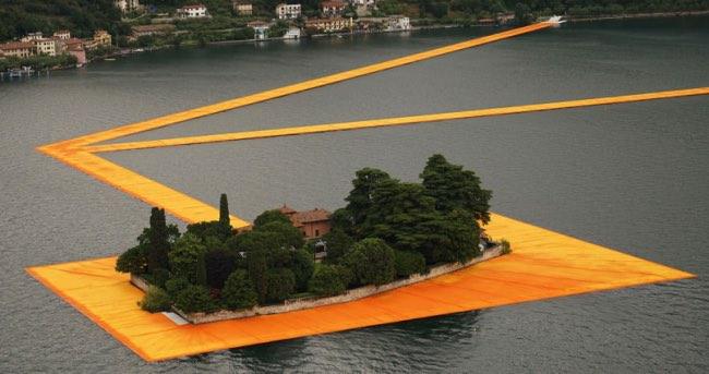 , L'Artiste Christo va vous Faire Marcher sur l'Eau en Italie (video)