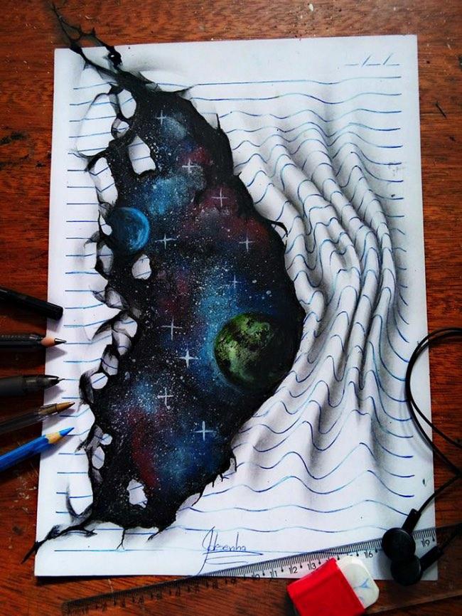 joao carvalho j desenhos dessin 3d crayons couleurs 3 - Les Illustrations 3D de cet Adolescent ont fait le Tour du Monde