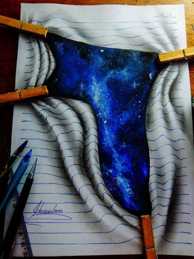 joao carvalho j desenhos dessin 3d crayons couleurs 4 - Les Illustrations 3D de cet Adolescent ont fait le Tour du Monde