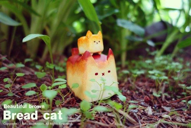 , Ces Pains à Tête de Chat Kawaii sont d'Amusants Jouets Miniatures