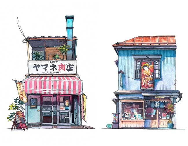 , Le Charme Illustré des Vieilles Devantures de Magasins à Tokyo