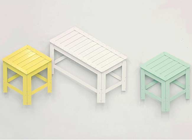 mobilier 2d 3d tabouret art design jongha choi, Ces Tableaux d'Art 2D se Transforment en Vrais Tabourets 3D (video)
