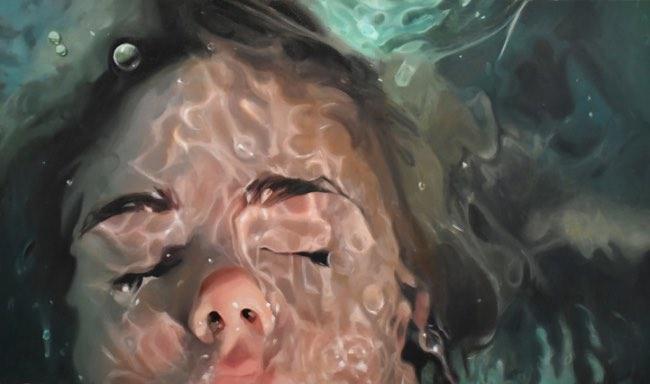 , Apaisantes Peintures Hyper Réalistes d'une Jeune Femme sous l'Eau