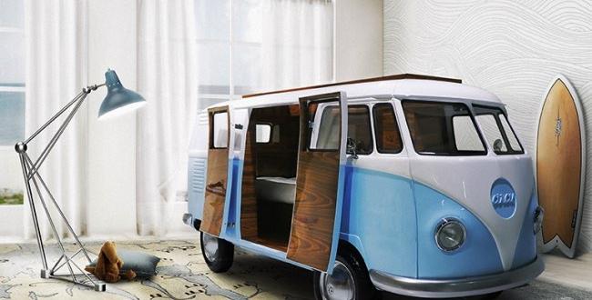 vw camper van lit camionnette volkswagen enfants 1 650x330 - Lit Fourgonnette Combi Van pour Chambre d'Enfants (video)