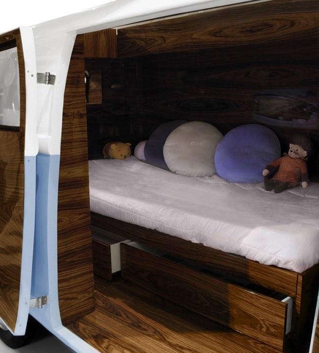 vw camper van lit camionnette volkswagen enfants 4 - Lit Fourgonnette Combi Van pour Chambre d'Enfants (video)