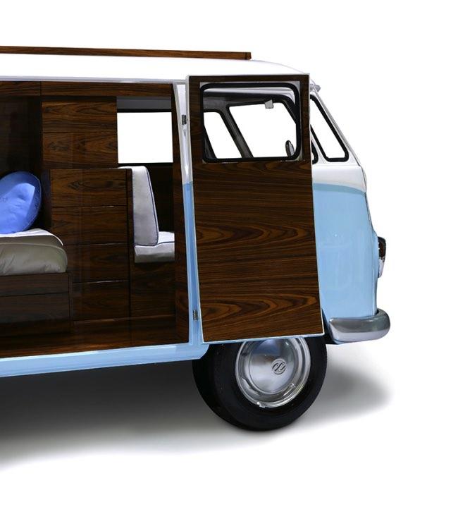 vw camper van lit camionnette volkswagen enfants 8 - Lit Fourgonnette Combi Van pour Chambre d'Enfants (video)