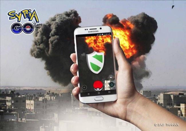 saif aldeen tahhan pokemon go syrian parodie 4 - Quand Pokemon Go Débarque en Syrie, ce n'est pas pour Jouer !