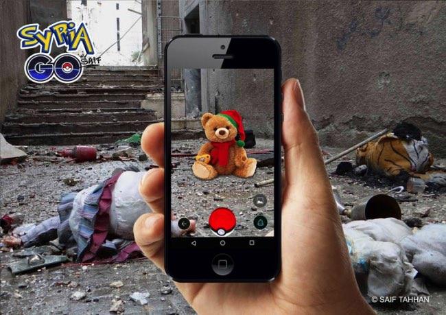 , Quand Pokemon Go Débarque en Syrie, ce n'est pas pour Jouer !