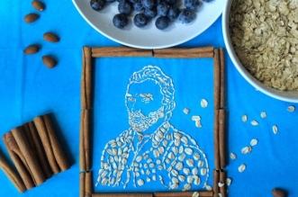 sarah rasado portrait oats avoine art 1 331x219 - Reproductions de Toiles de Maîtres en Flocons d'Avoine