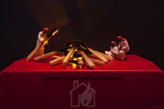 slinkachu art installations miniatures, Les Scènes Miniatures de Slinkachu s'Installent à Dubai