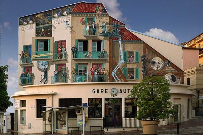 , Cet Artiste Transforme les Murs des Villes en Façades Pleines de Vie