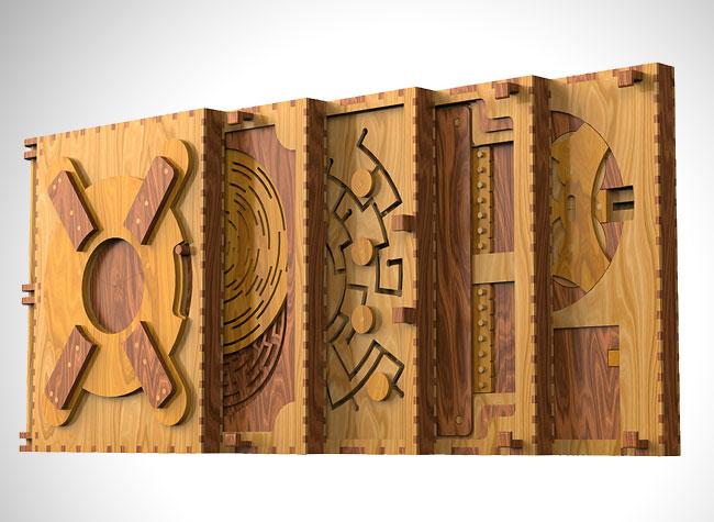 , 5 Puzzles Mécaniques à Résoudre pour Déchiffrer ce Superbe Livre en Bois (video)