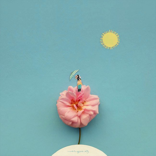 , De Vraies Fleurs pour Sublimer ses Illustrations Poetiques