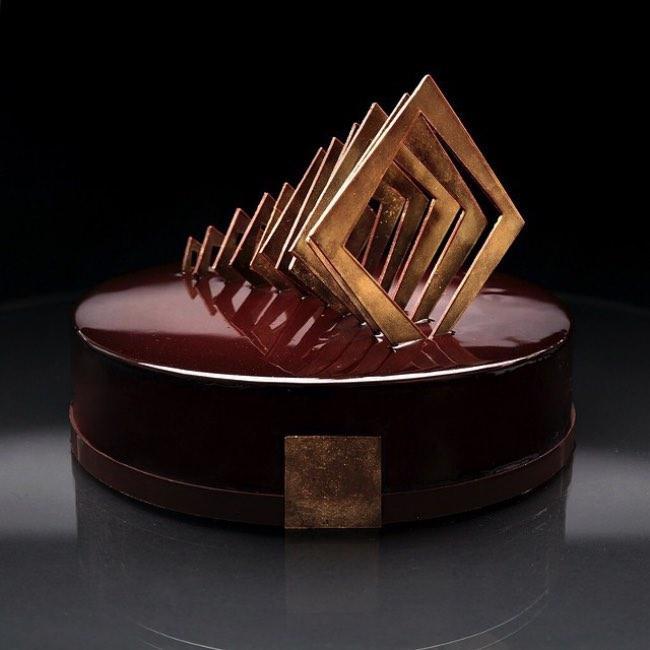 dinara kasko patisserie art sculpture 1 - Artistiques Pâtisseries Géométriques par Dinara Kasko (video)