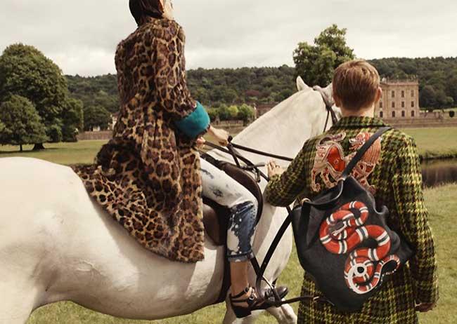 , Gucci en Promenade dans le Parc du Château de Chatsworth pour 2017