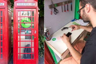 lovefone cabine telephonique londres reparation mobiles 4 331x219 - Londres Transforme ses Cabines Téléphoniques en Boutiques