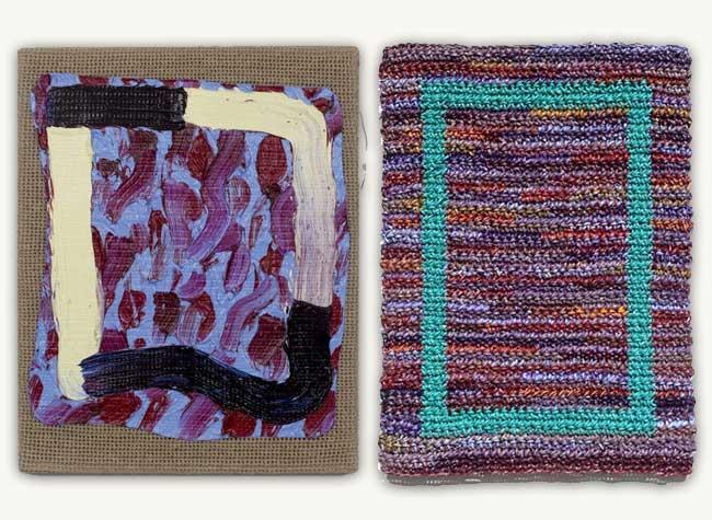 , Tapis d'Art Réalisés en Crochet avec de la Peinture