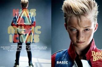 basic magazine david bowie enfant portrait star 1 331x219 - Des Enfants Revisitent les Iconiques Couvertures d'Albums