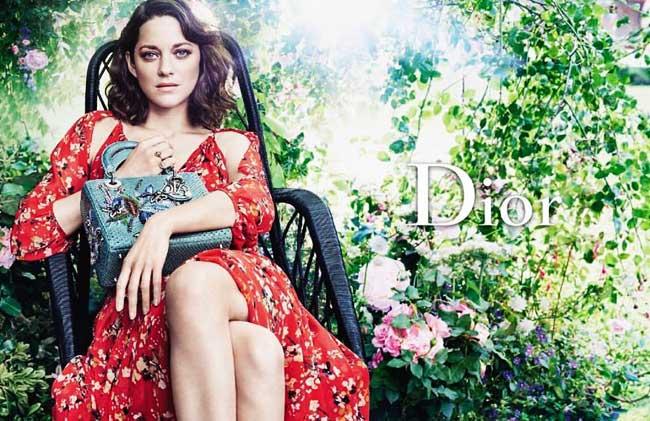 , Jardin de Roses pour Dior Resort 2017 et Marion Cotillard