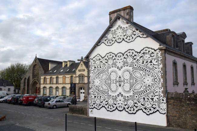 , Nouvelles Dentelles Urbaines par la Dentellière du Street-Art