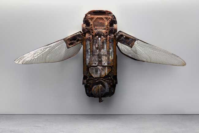 , L'Art de Transformer les Epaves de Voitures en Mouches Géantes