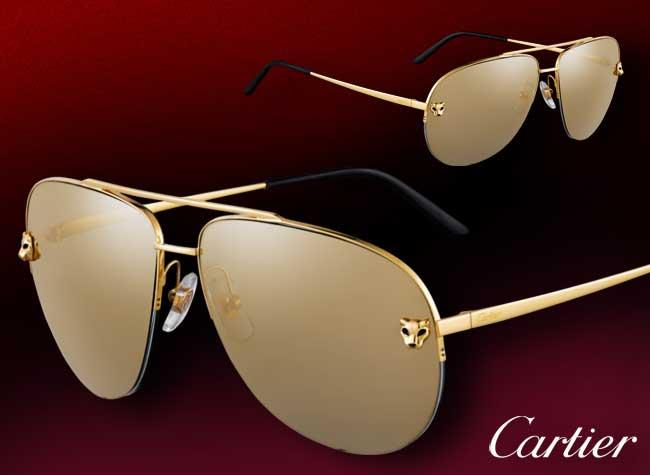 Lunettes Aviteur Cartier, Cartier Revisite les Lunettes de Soleil Aviateur pour Homme