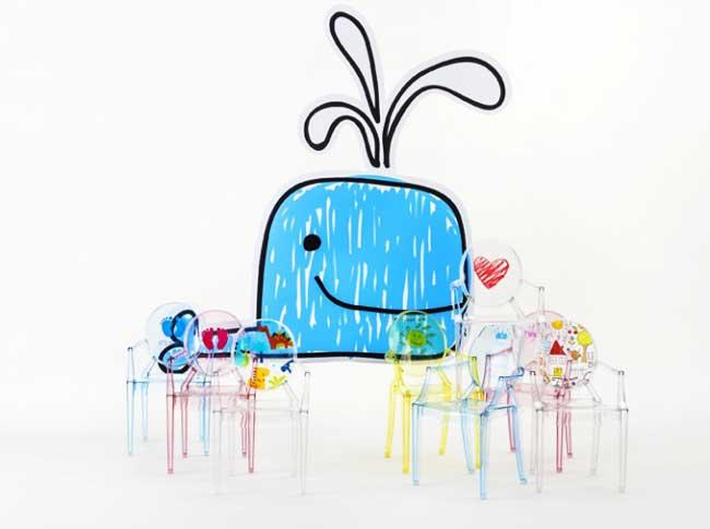 , La Lou Lou Ghost Kartell Kids la Chaise Personnalisée pour Enfant