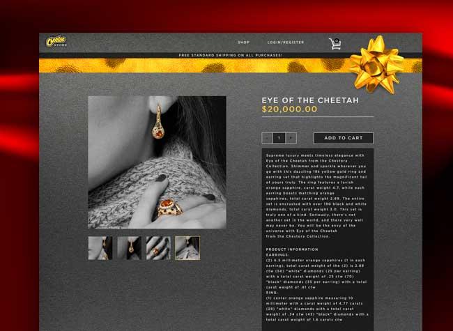 cheetos bijoux, Quand la Marque de Chips Cheetos Propose des Bijoux à 20000 $