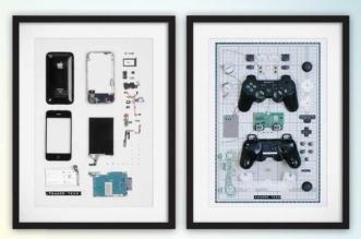 framed-tech-appareils-gadget-demontes-encadrement-art-1