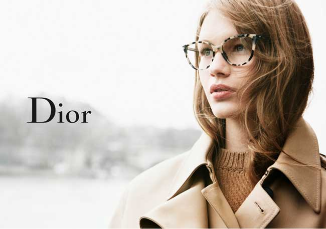 lunettes dior femme hiver 2016 2017 campagne 2 - Sofia Mechetner Egérie de Charme pour Dior Lunettes Hiver 2016