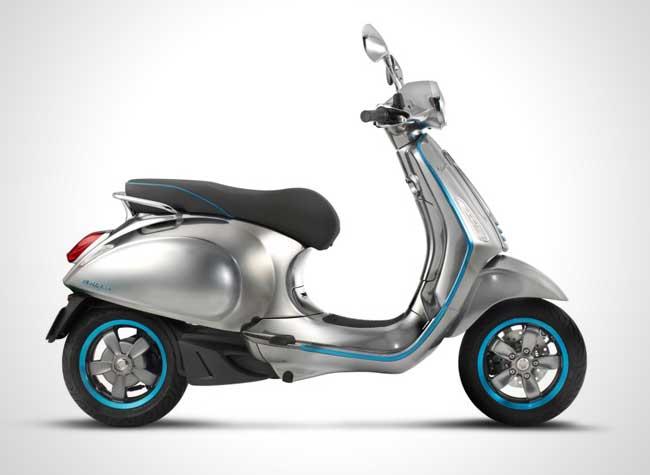 piaggio vespa elettrica electrique scooter 1 - Le Scooter Vespa Toujours aussi Chic mais Electrique