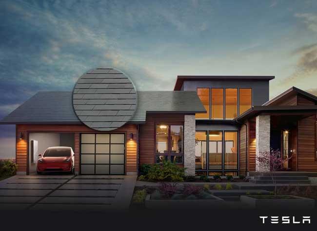 tesla solar roof tuile solaires ardoise revolutionnaires 1 - TESLA Imagine des Tuiles Solaires au Design d'Ardoise (video)