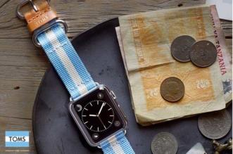 toms shoes bracelet montre apple watch 1 331x219 - TOMS Donne à la Montre Apple Watch des Couleurs Solidaires