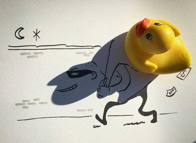 , Amusantes Illustrations Mises en Scène avec des Ombres