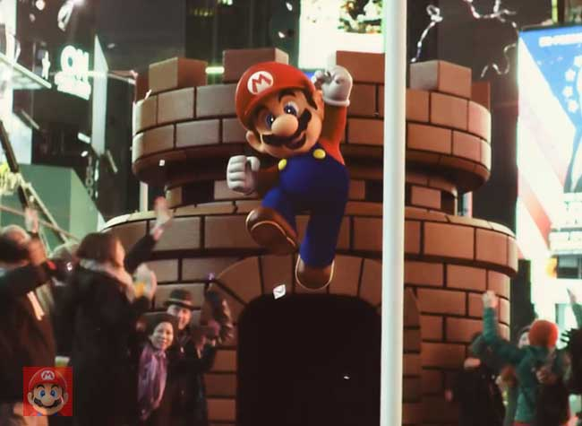 campagne pub super mario run video cinema 2 - Super Mario à New York dans une Pub Hollywoodienne (video)